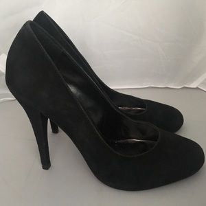 Steve Madden Ultamit Black Velvet Leather Heel (8)